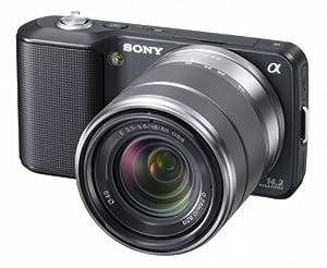 Sony NEX-3KB Systemkamera (14 Megapixel, Live View, HD Videoaufnahme) Kit schwarz inkl. 18-55mm Objektiv