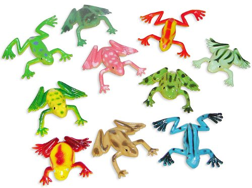 Fun Express - Mini Vinyl Frogs 6 dz