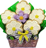 Delight Expressions™ Sweet As a Daisy Cookie Bouquet (Small) - A Mother's Day Gift Basket