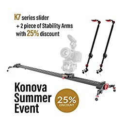 Konova Camera Slider Dolly K7 120cm (47.2 Inch) Can Support Broadcast Camera Like ENG Camera