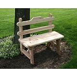 Creekvine Designs 6' Cedar Tab Back Bench