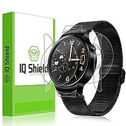 Huawei Watch Screen Protector, IQ Shield® LiQuidSkin Full Body Skin + Full Coverage Screen Protector for Huawei Watch HD Clear Anti-Bubble Film - with Lifetime Warranty