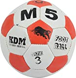KDM M 5 Rubber Football, Size- 3 (Multi-Coloured)