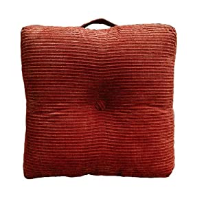 Oversized Plush Floor Pillows : Amazon.com: Elements Perry Oversized Floor Cushion, Brick: Home & Kitchen