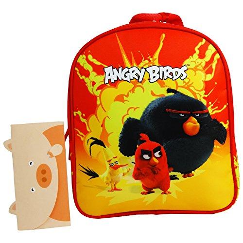 Angry Birds Zaino Asilo Infantil Rosso per Asilo