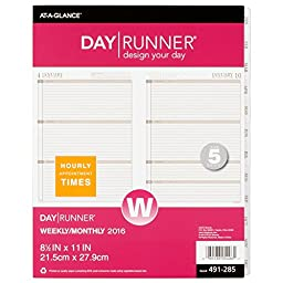 Day Runner Weekly Planner Calendar Refill 2016, 8.5 x 11 Inches Page Size (491-285-16)