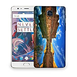 Snoogg River Side Mountain Designer Protective Phone Back Case Cover For OnePlus 3