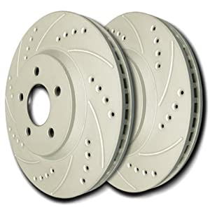 SP Performance F06-386 Front Drilled - Slotted Rotor Pair BMW 3-Series 07-08
