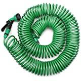 Generic 30M EVA Coiled Stretch Down Garden Hose With Nozzle