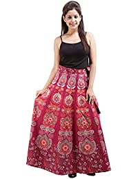 Jaipur Skirt Women's Cotton Wrap Skirt - B01F5OK3OI