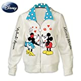 Disney Kissin' Mickey And Minnie Women's Hoodie by The Bradford Exchange