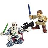 Hasbro 85400 Star Wars Galactic Heroes Mini-Figure 2 Pack - Obi-Wan Kenobi and General Grievous