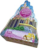 Pretty Princess Disney Cute 16 Valentines & Box Childs Ariel Snow White