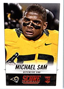 2014 Score Football Card #408 Michael Sam - St. Louis Rams NFL Rookie Card