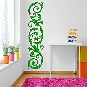 DeStudio Corner Curves Chalkboard Wall Decal, Size XXX Large & Color : GREEN