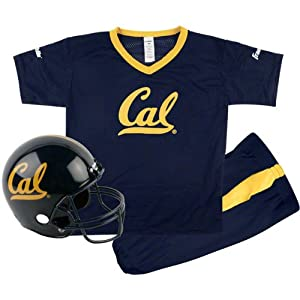 California Bears Kids Youth Football Helmet and Uniform Set by Franklin