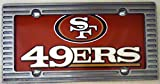 "1 , NFL Sign of the "" SAN FRANCISCO 49ERS "" , Polyethylene Sign, Framed with an Alloy Brushed Aluminum Frame,,27B4.0&3B5.8,,026"