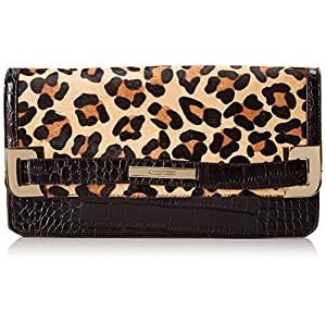 Anne Klein Hear Me Roar 60339110 Clutch,Brown Leopard,One Size