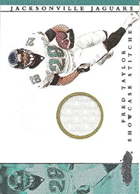 Fred Taylor 2001 Fleer Showcase Stitches Jersey Card Jacksonville Jaguars