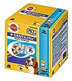 Image of Pedigree DentaStix Hundesnack für mittelgroße Hunde (10-25kg), Zahnpflege-Snack mit Huhn und Rind, 1 Packung je 56 Stück (1 x 1.44 kg)
