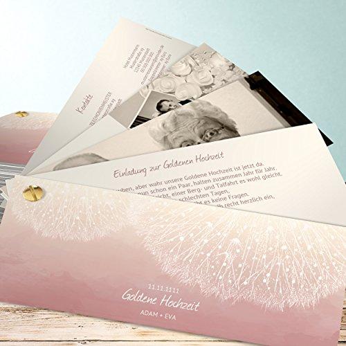 goldene hochzeit einladungskarten selbst gestalten l wenzahn 140 karten kartenf cher 210x80. Black Bedroom Furniture Sets. Home Design Ideas