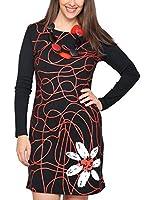 ZZ_HHG Vestido (Negro / Rojo)
