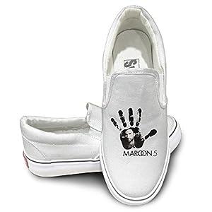 Hands All Over Maroon 5 Canvas Low Top Sneaker 37