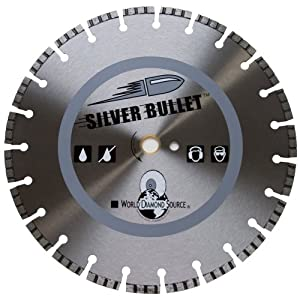 Silver Bullet ST4-1 Segmented Turbo Diamond Blade, 4-Inch