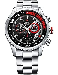 Swiss Military By Chrono Analogue Black Dial Men's Watch SM34042.03