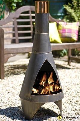 105cm Bronze Steel Colorado Chiminea Patio Heater