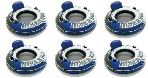 INTEX River Run I Inflatable Water Floating Tubes - 6 Pack