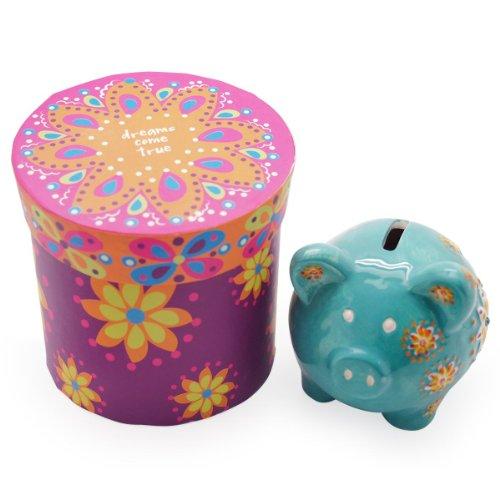 "Ceramic Piggy Bank ""Dreams Come True"" by Natural Life - 1"
