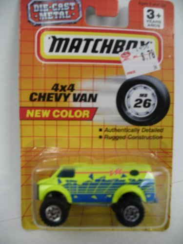 Matchbox 4x4 Chevy Van 1:64 Scale Die-Cast #26 - 1