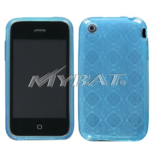 Apple iPhone 3G/3GS Baby Blue Chinese Tiles Candy Skin Cover Silicone/Gel/Soft/Cover/Case