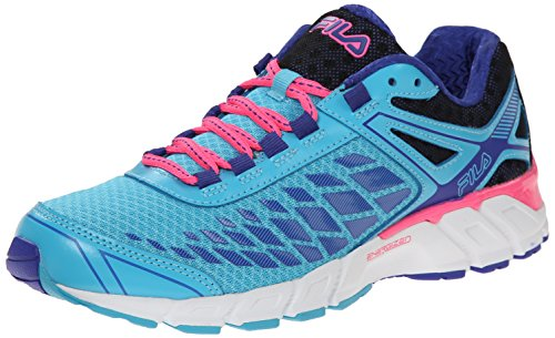 Fila Women's Dashtech Energized Running Shoe, Blue Atoll/Royal Blue/Knock Out Pink, 9.5 M US