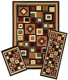 Park Avenue Collection Capri 3 Piece Rug Set - Chelsea
