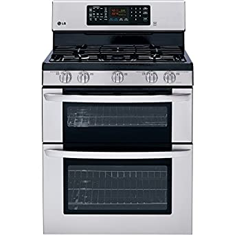 """LG LDG3036ST 30"""" 6.1 cu. ft. Large Capacity Gas Double Oven Range in Stainless Steel"""
