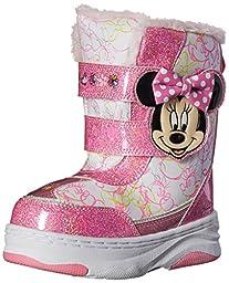 Disney Minnie C/W Boot (Toddler/Little Kid), White/Pink, 10 M US Toddler