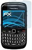 atFoliX Displayschutzfolie für Blackberry 8520 Curve (Gemini) - FX-Clear: Display Schutzfolie kristallklar! Höchste Qualität - Made in Germany!