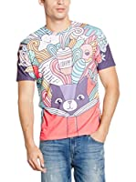 Mr. Gugu & Miss Go Camiseta Manga Corta Unisex Imagination (Morado / Multicolor)