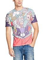 Mr. Gugu & Miss Go Camiseta Manga Corta Unisex Imagination (Morado / Multicolor)