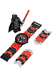 LEGO Kids' 8020301 Star Wars Darth Vader Plastic Watch with Link Bracelet and Character Figurine