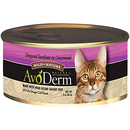 AvoDerm Natural Wild by Nature Cat Food, 3-Ounce Cans, Case of 24