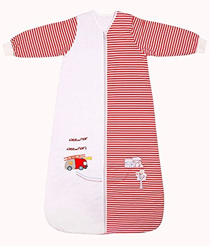Winter Baby Sleeping Bag Long Sleeves approx. 3.5 Tog - Fire Engine - 12-36 months/43inch