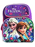 Disney Frozen Backpack 16Large Bag, Elsa & Anna Light Purple Snow