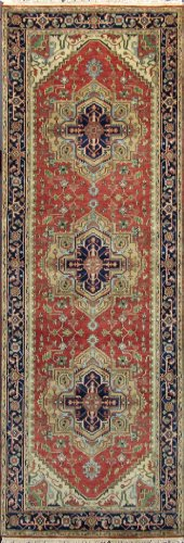 Overstock Sale 4x12 Hand Knotted RUG Heriz Wool Runner H483