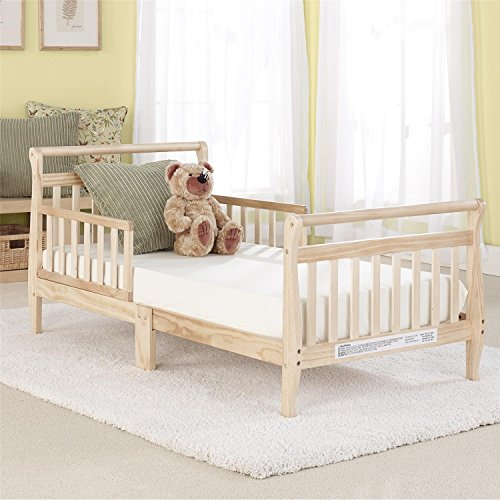 Big Oshi Classic Sleigh Toddler Bed, Natural