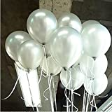 100 Count Balloons 10 Inch Thick Latex Kids Boy Girl Children Party Activity Campaign Events Celebrations Promotions Balloons White