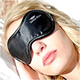 UNIQUE GIFT GIVING IDEA for Men- Women or Teens. A Side Sleeper Black Satin -Sleep More- Sleeping Eye Mask with Memory Foam Ear Plugs. Our Sleep Masks are Super Lightweight-Made of High Quality Satin-Durable-Easy to Wash and are a Perfect Natural Aid for Sleep Disorders and Insomnia.