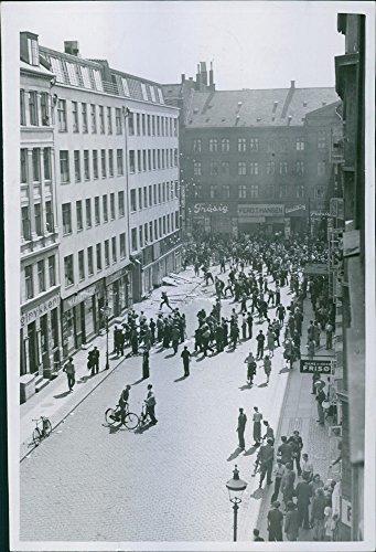 Vintage photo of General Strikes in Copenhagen July 1944.